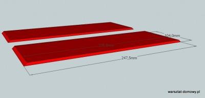 polka na samochodziki 41 400x193 Projekt: Półka na samochodziki