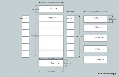 polka na samochodziki 51 400x258 Projekt: Półka na samochodziki