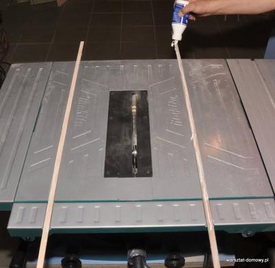 DSC 2308 400x389 Sanki do piły stołowej do dokładnego cięcia listew
