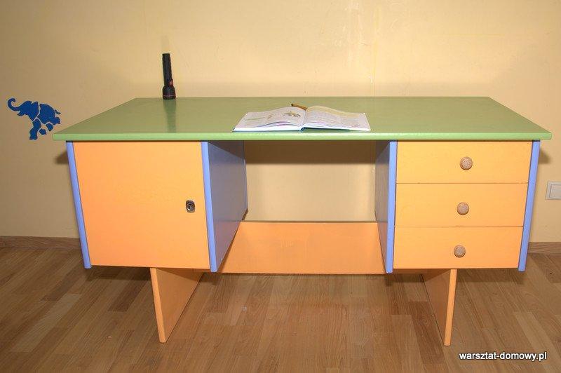 Odnowione biurko dla dziecka