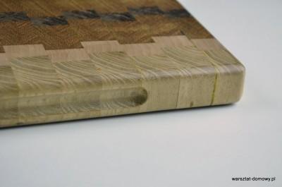 DSC 4085 400x265 Kwadratowa deska do krojenia   jesion, mahoń, czarny dąb