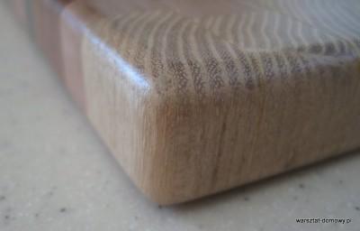 IMG 1087 400x256 Kwadratowa deska do krojenia   jesion, mahoń, czarny dąb