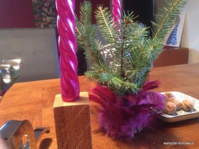 2013 12 24 14.18.04 400x300 Projekt świąteczny   świeczniki na stół wigilijny