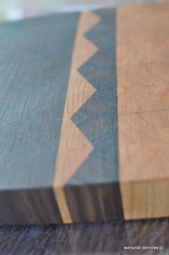 DSC 0009 332x500 Deska do krojenia z trójkątnymi wzorami   czereśnia i orzech