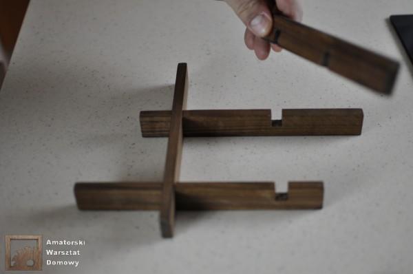 DSC 0128 600x398 Składana podstawka na świąteczny stół   pomysł na prezent