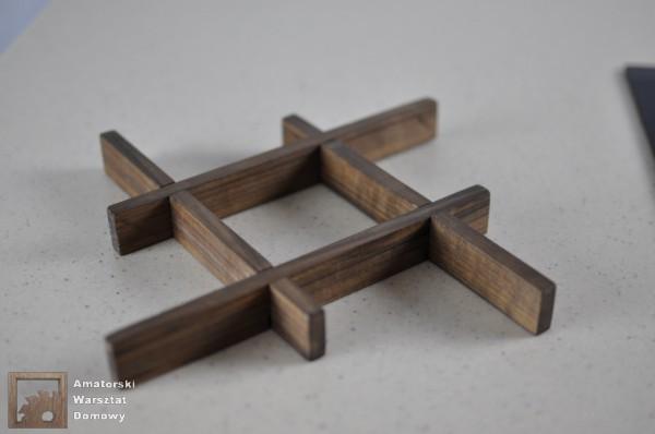 DSC 0131 600x398 Składana podstawka na świąteczny stół   pomysł na prezent