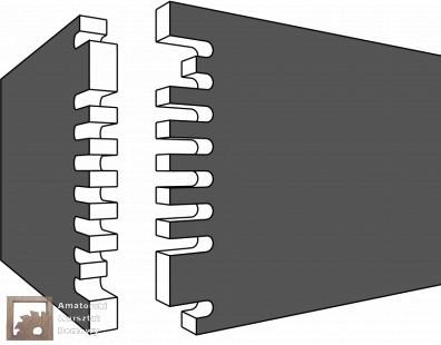 fingertip tenons Pięćdziesiąt połączeń stolarskich   Flexible Stream