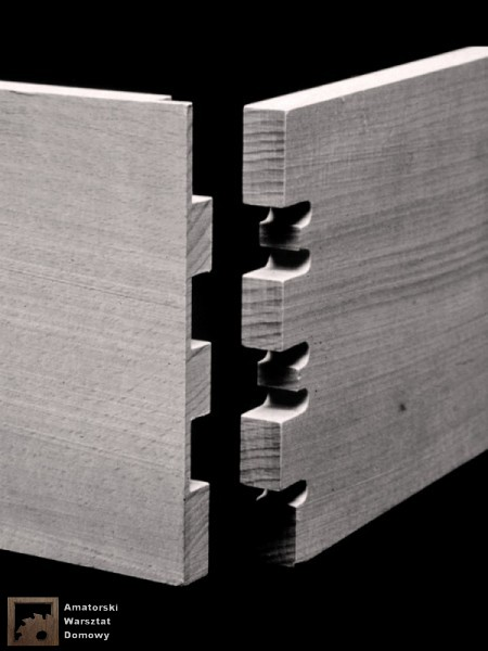 secret finger tenons 450x600 Pięćdziesiąt połączeń stolarskich   Flexible Stream